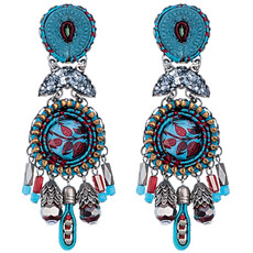 Blue Coral Cave style earrings by Ayala Bar Jewelry