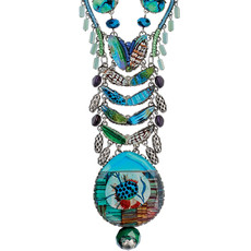 Turquoise Revelation style necklace by Ayala Bar Jewelry