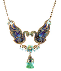 A Beautiful Swans Necklace From The Michal Negrin Classic Collection