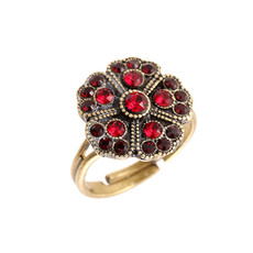 Michal Negrin Round Flower Ring - Multiple Colors