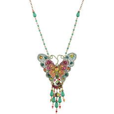 Michal Negrin Butterfly Necklace - Multi Color