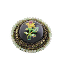 Michal Negrin Lace Picture Brooch - Multi Color
