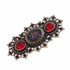 Michal Negrin Crystal Flower Brooch