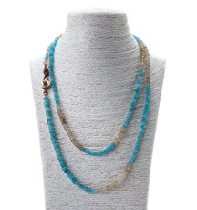 Button Me Up Necklace by the designer Nava Zahavi - New Arrival