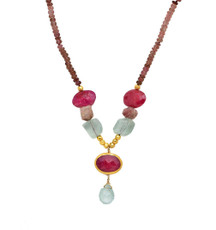 Dancing with Ruby Necklace - New Arrival