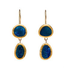 Firestone Opal Earrings by Nava Zahavi - New Arrival