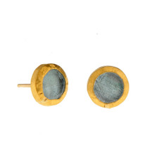 Aquamarine stud Earrings by Nava Zahavi - New Arrival