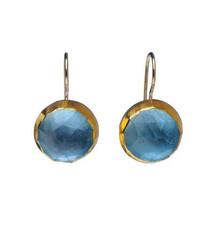 December Birthstone Blue Topaz Earrings by Nava Zahavi - New Arrival