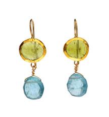 Botanic Bassonite and Aquamarine Earrings by Nava Zahavi - New Arrival