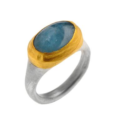 Aquamarine Faithful Ring by Nava Zahavi - New Arrival