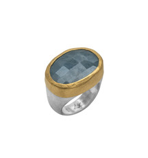 Oprahs Aquamarine Ring by Nava Zahavi - New Arrival