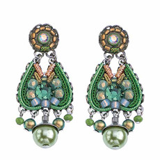 Ayala Bar Daylily Avocado Sunrise Earrings - New Arrival