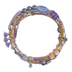 Ayala Bar Purple Rain Wrap Bracelet - New Arrival