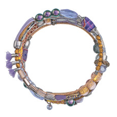 Ayala Bar Purple Rain Wrap Bracelet