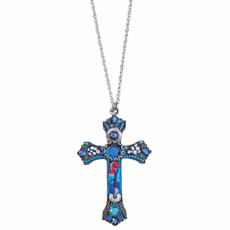 Ayala Bar Celtic Aqua Cross Necklace For Women - New Arrival
