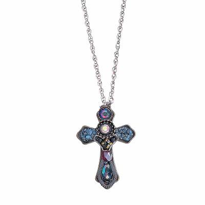 Ayala bar small cross religious pendant jet necklace aloadofball Images