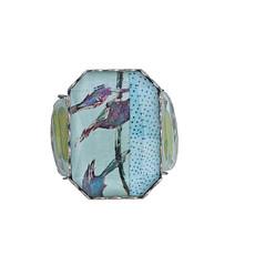 Ayala Bar Kariba Love Bird Adjustable Ring