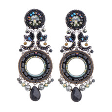 Ayala Bar Festival Night Pitch Black Earrings - New Arrival