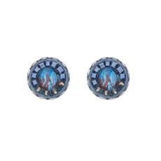 Ayala Bar Sapphire Rain Cute as a Button Earrings - New Arrival