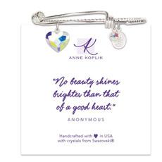 Anne Koplik Heart Shine Charm Bangle
