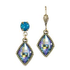 Anne Koplik Aquamarine Marquise Drop Earrings