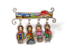 Judaica The Four Matriarchs Pin - One Left
