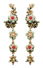 Michal Negrin Jewelry Clip On Flower Earrings - 100-093753-009 - Multi Color