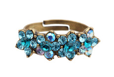 Michal Negrin Jewelry 4 Flower Adjustable Ring - 100-095190-107 - Multi Color