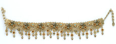 Michal Negrin Jewelry Gold Brown And Light Blue Choker