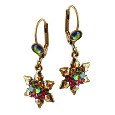 Michal Negrin Jewish Star Of David Hook Earrings