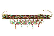 Michal Negrin Jewelry Flowers Choker - Multi Color