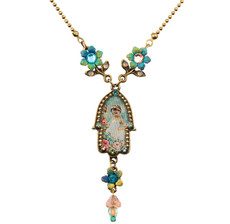 Small Hamsa Hand Necklace By Michal Negrin - Multiple Options