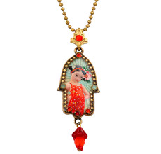 Hamsa Symbol Necklace By Michal Negrin - Multiple Options