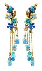 Michal Negrin Jewelry Flowers Crystal Earrings - Multi Color