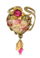 Michal Negrin Jewelry Rose Flower Adjuastable Ring - Multi Color
