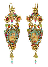 Michal Negrin Jewelry Antique Look Hook Earrings - One Left