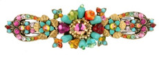 Michal Negrin Jewelry Crystal Flowers Hair Brooch - Multi Color