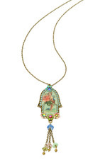Victorian Hamsa Necklace By Michal Negrin