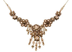 Michal Negrin Jewelry Crystal Flowers Necklace - 100-106580-021 - Multiple Options