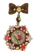 Michal Negrin Jewelry Victorian Pin - Multi Color