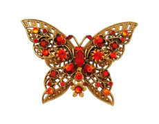 Michal Negrin Jewelry Crystal Butterfly Shape Pin - 100-102820-038 - Multiple Options