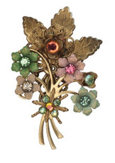 Michal Negrin Jewelry Swarovsky Crystals Flowers Pin - Multiple Options
