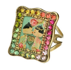 Michal Negrin Jewelry Triangle Shape Adjustable Ring