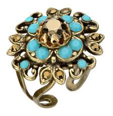Michal Negrin Flower Adjustable Ring - Multi Color