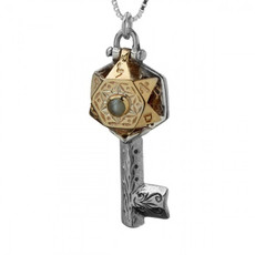 Kabbalah Star Of David Key Pendant With 72 Names Of God