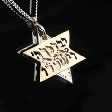 Kabbalah Jewelry Star Of David Pendant W/ Priestly Blessing