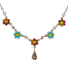 Michal Negrin Jewelry Silver Flowers Necklace - 110-030130-011