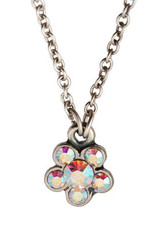 Michal Negrin Jewelry Silver Flowers Necklace - 110-084680-001 - Multi Color