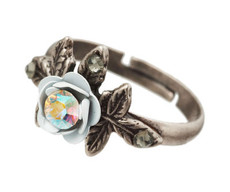 Michal Negrin Jewelry Silver Flower Ring - Multi Color