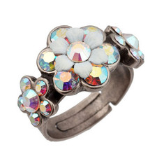 Michal Negrin Jewelry Silver Adjustable Ring - 110-083300-001 - Multiple Options